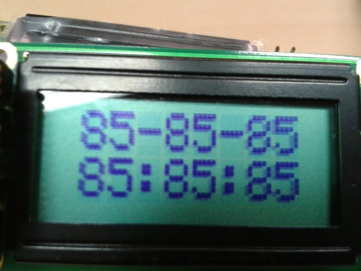 I program  DS1302 & AT89C51 C code but LCD display 85 : 85 : 85,what is wrong???-error-jpg