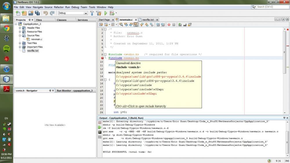 Novice Programmer, having trouble. Netbeans/Cygwin-halp-jpg