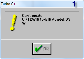stuck while running  program using turbo c++ 4.5 in windows 7.-1-png
