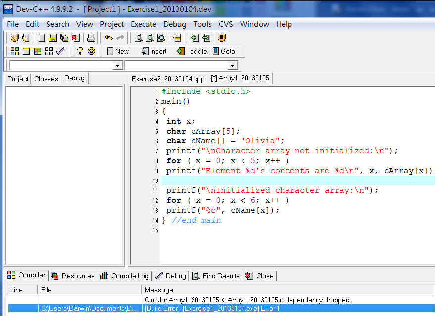 Dev C++ Dependency Dropped-initiation-array_20130105-png