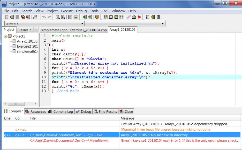 Dev C++ Dependency Dropped-initiation-array_20130105-jpg