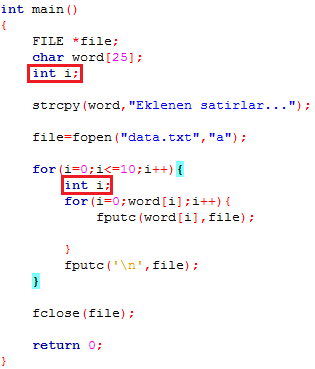Compiler Doesnt Give Any Error That I Define A Variable