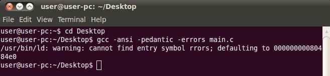 Ubuntu C File Compile Error Gcc