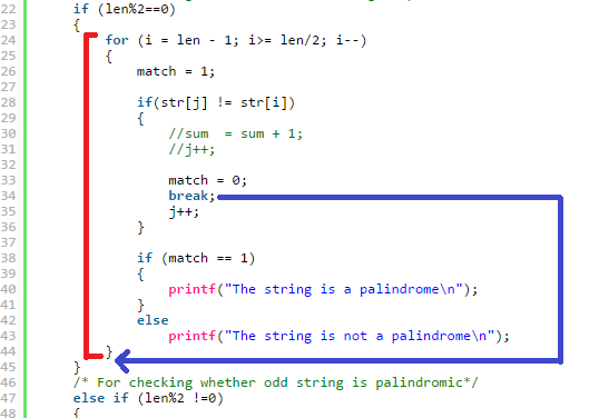 Palindrome checker working but