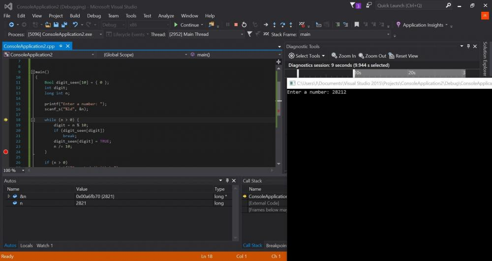 how to run c program in visual studio