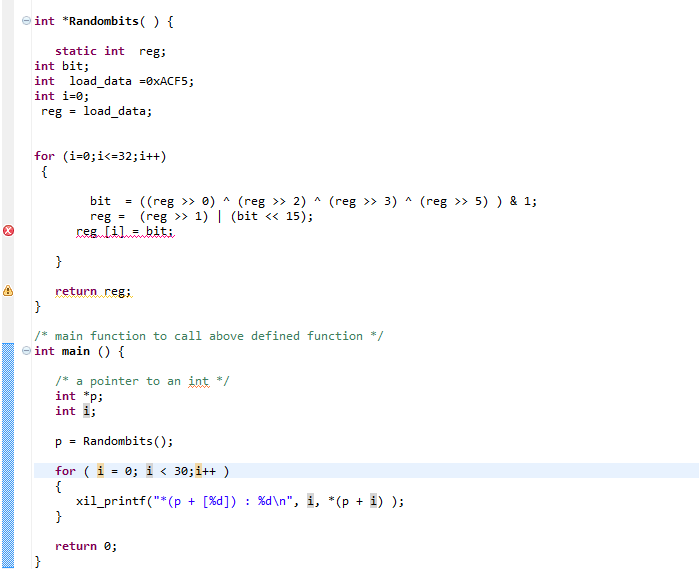 How to get sequence of bits through Functional Call-c_code-png