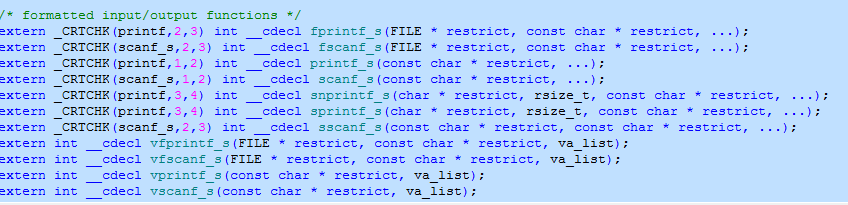 in stdio.h  there is no function printf. All I see is this?-print-png