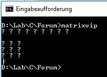 Segmentation fault in arrays-matrixvip-jpg