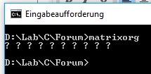 Segmentation fault in arrays-matrixorgneu-jpg