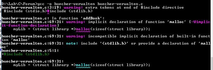 C Problem - Create a Personal Library-includefalsch2018-12-14_175451-jpg