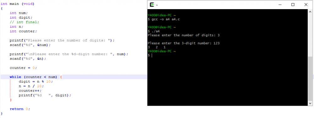 How to separate the number with spaces in between using while loop and power function-asl-jpg