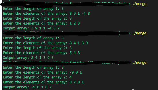 Removing duplicate elements when merging two arrays-output-png