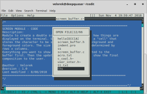Project: C-Edit for Linux - Text editor in terminal with basic text UI. No ncurses.-cedit1-png