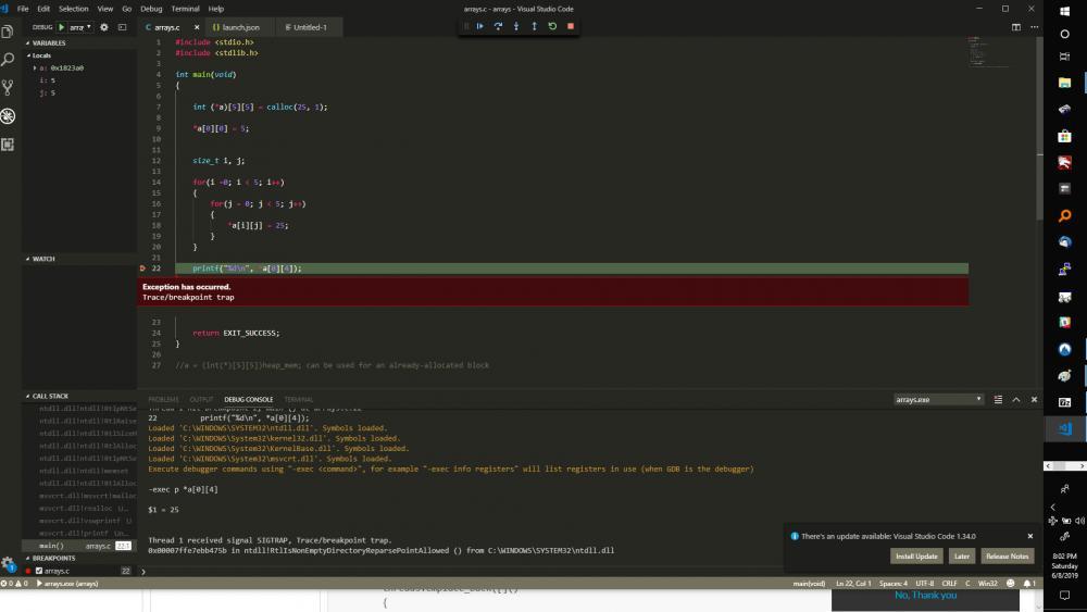 Strange MinGw Windows runtime error-sigtrap-jpg