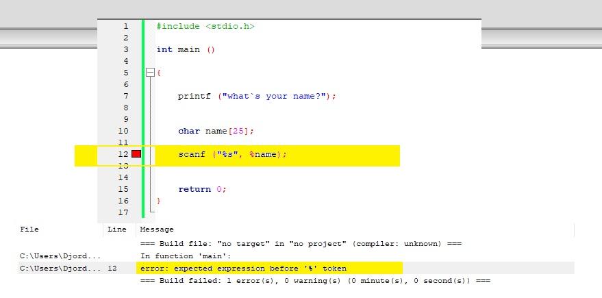 Help with scanf character string - total beginner-programiranje-jpg
