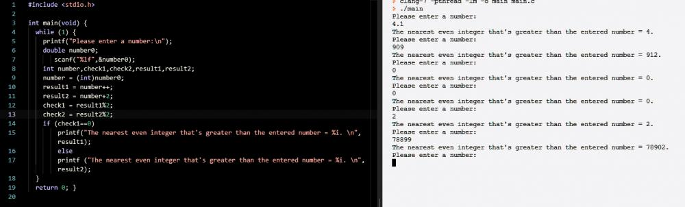 Finding the nearest even integer that's greater than the inputted number.-cantsolve-jpg