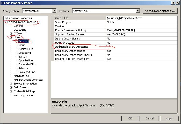 can compile in terminal but not from VS 2005 IDE, please help.-step1-jpg