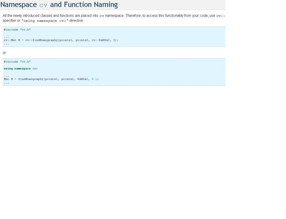 OpenCV and Visual Studio 2010: Infamous namespace error.-untitled-jpg