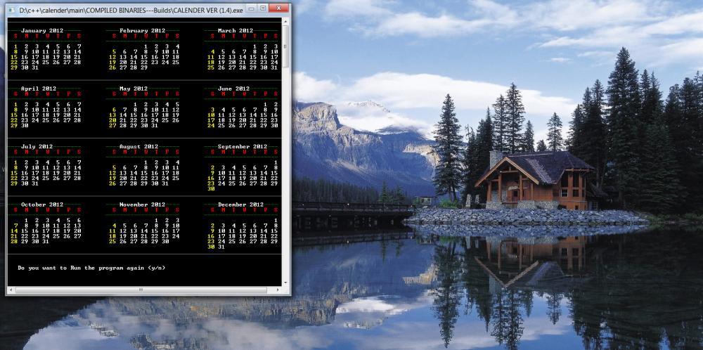 C/C++ Calender-calender-screenshot1-jpg
