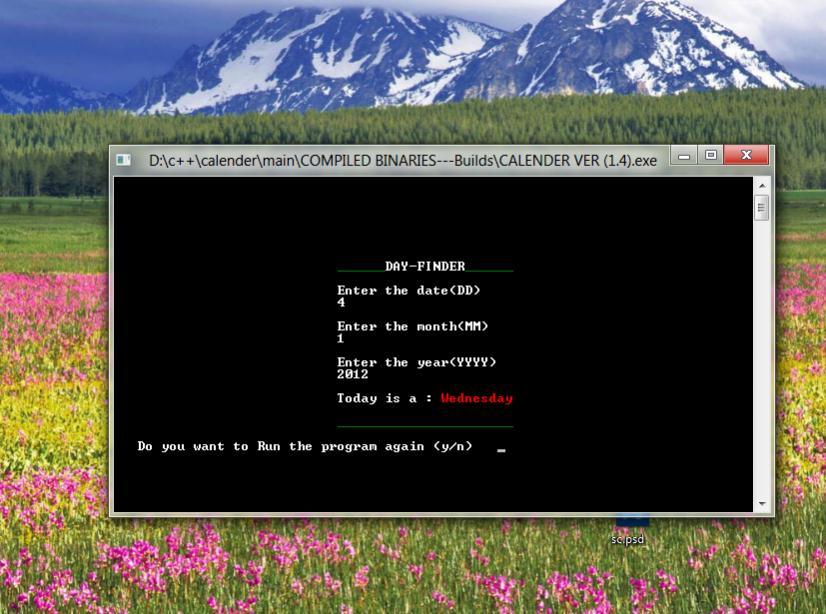C/C++ Calender-calender-screenshot2-jpg