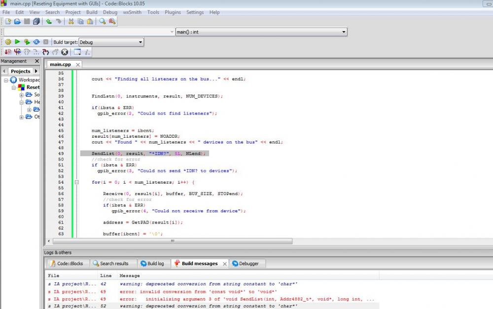 C++ int to const char