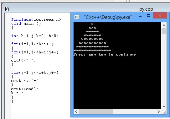 [ c++]  Pyramid Shape By me-60763_10151402713497845_153023960_n-jpg