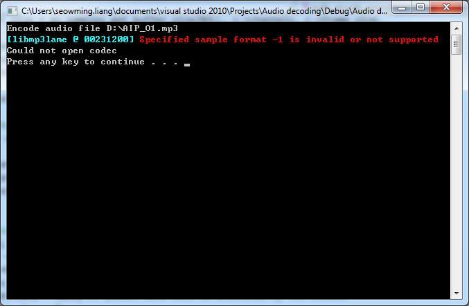 Audio Encoding error-codec-not-found-png