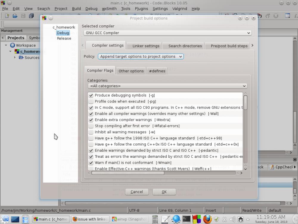 Recovering Code::Blocks C++ linker settings-projectsettings2-jpg