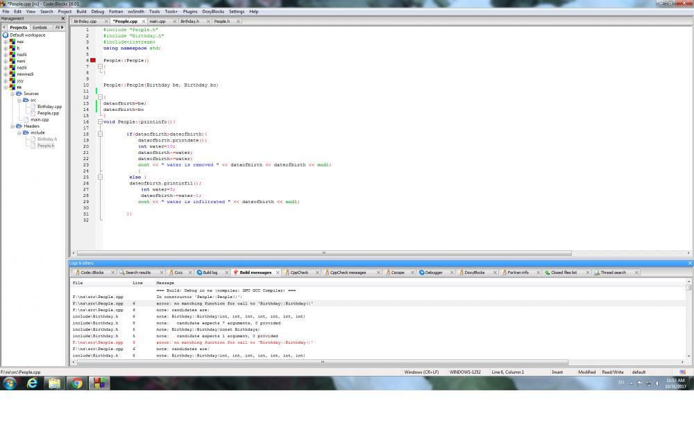 having issue in using operator within multiple classes-error-jpg