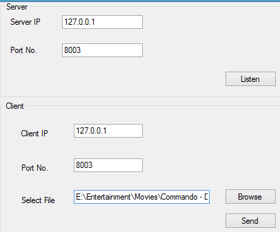 File Sharing application works well on local host but crashes on remote PC's-ss-png