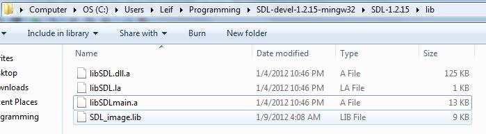 "Code::Bocks 10.05 SDL_image setup woes - ""Undefined reference to IMG_Load""-sdl5-png"