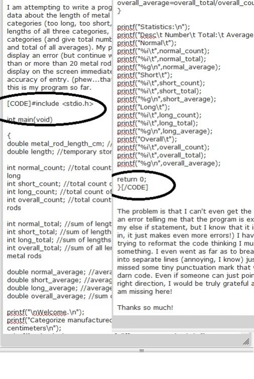 Trying to post code to discussion board, having problems...anyone else?-screenshot-jpg