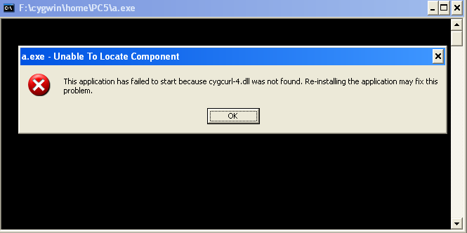 this application has failed to start because cygwincurl-4.dll was not found? Help-curl-png